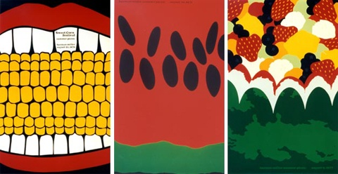Steve Frykholm's company picnic posters for Herman Miller.  Hands down some of my favorite cards to receive from HM reps.