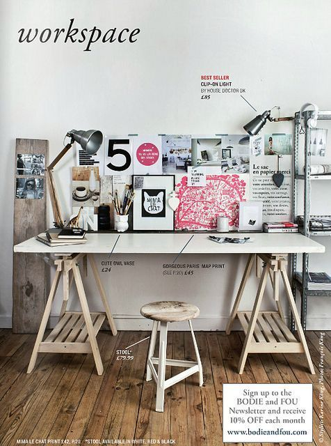 Love the desk and wall #Desk Layout