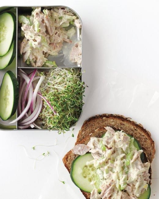 Tangy Tuna Salad Recipe -- made with the good-for-you ingredient: Greek yogurt! I took out the mayonnaise completely!