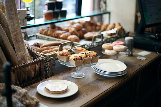 breakfast in the bakery