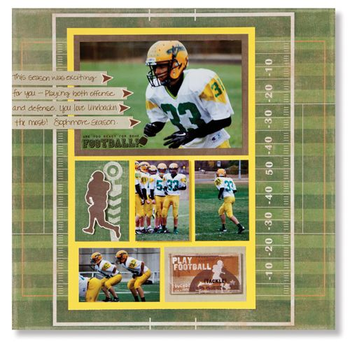 Football Additions Game Scrapbook Layout