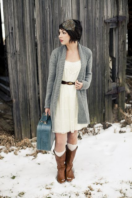 Winter - love this outfit.