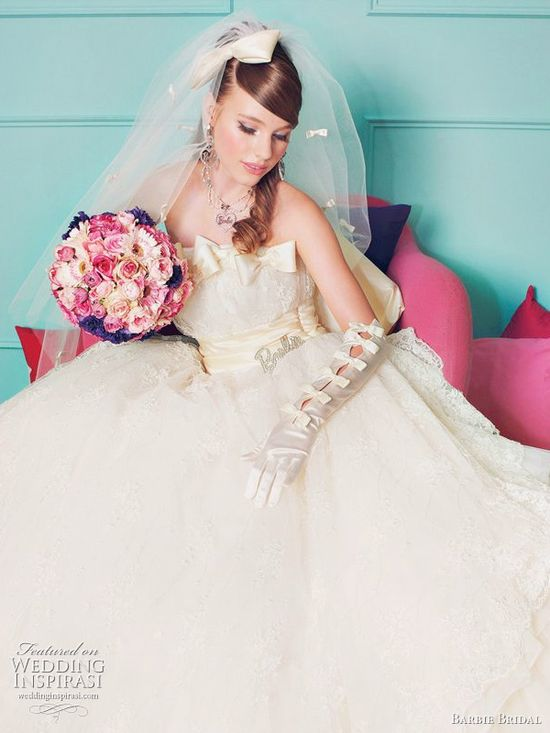 Barbie wedding dress