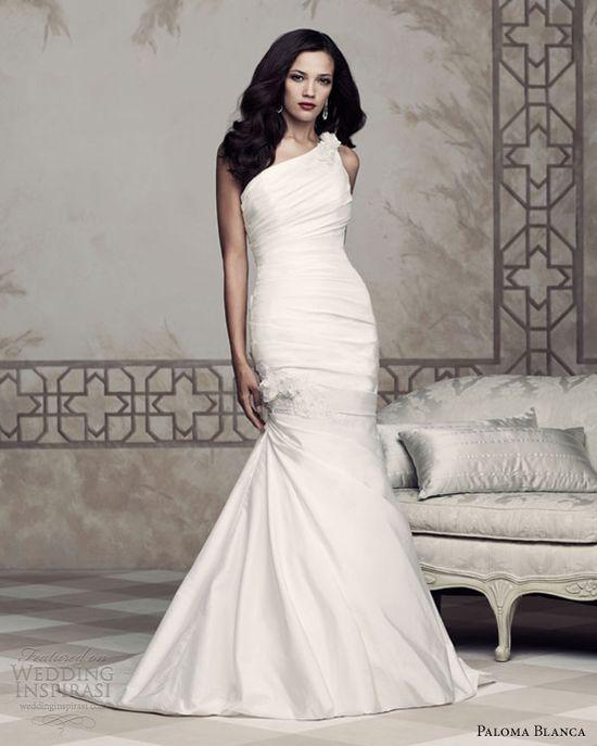 paloma blanca 2013 one shoulder wedding dresses 4353