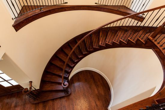 Our dream home has a winding staircase