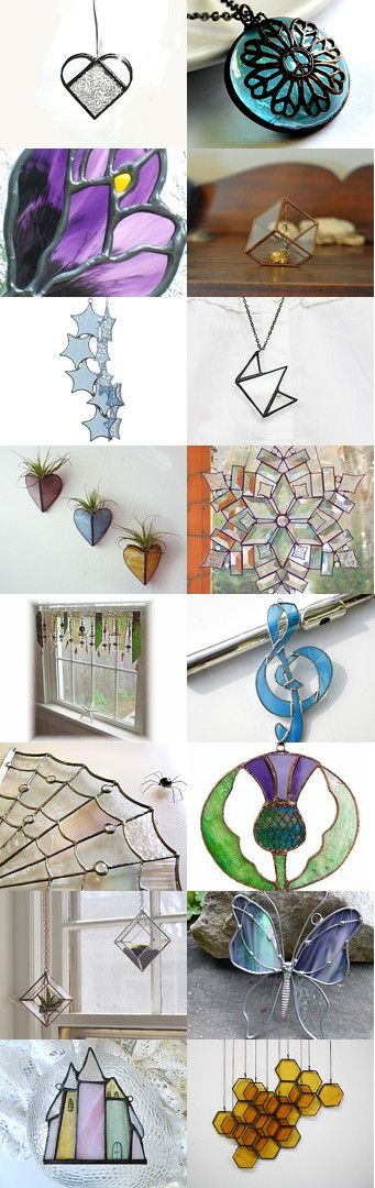 Stained Glass Beauty  suncatchers panels jewelry 3D art