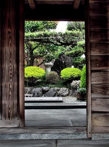 Gate to a Japanese garden