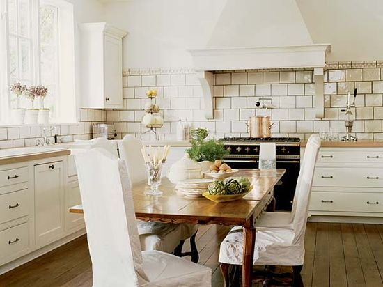 love the large subway tile