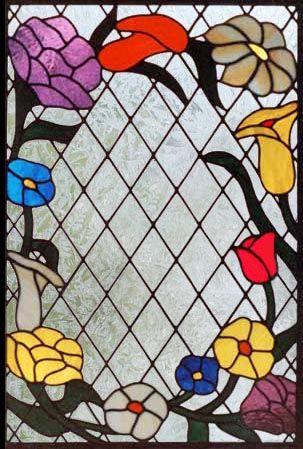 Decorative Glass Arch Window