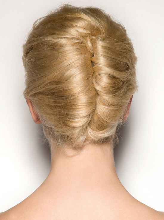 60's Double French Twist Hairstyle