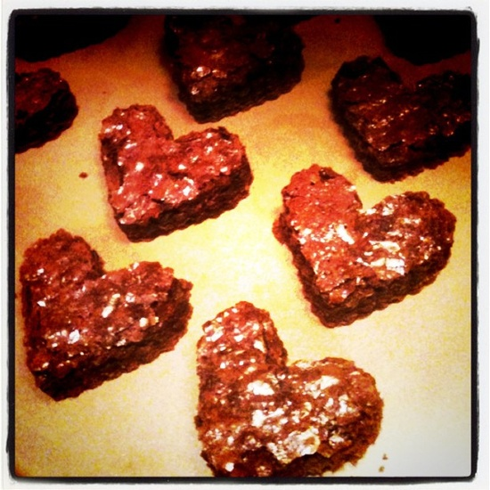 Valentine's Day brownies. *heart* the hearts