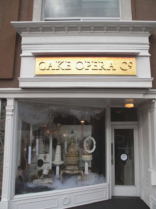 Cake Opera Co. store front . . . . . and how could you pass this by!