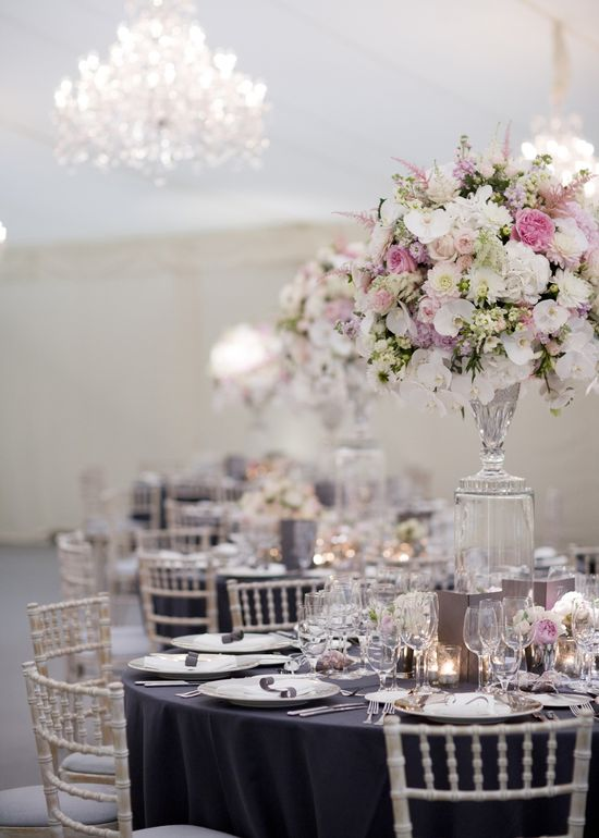 indoor #ballroom reception Photography: Polly Alexandre - alexandreweddings..., Florals by www.byappointment...