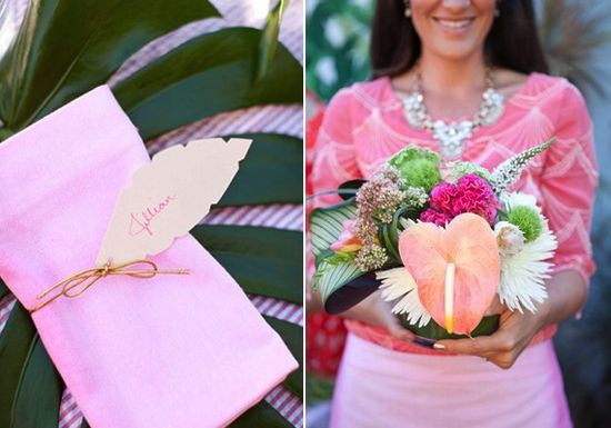 we love the idea of hiring someone to teach a flower arranging class at your bridal shower! {click for more ideas}