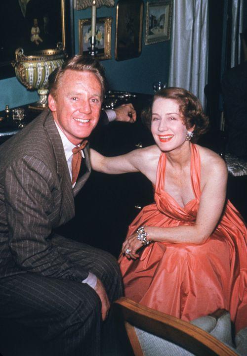 Norma Shearer and Van Johnson
