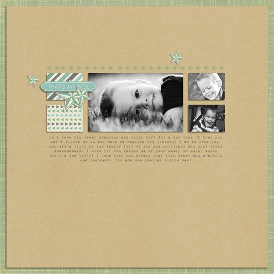 I love the simplicity of this scrapbook page