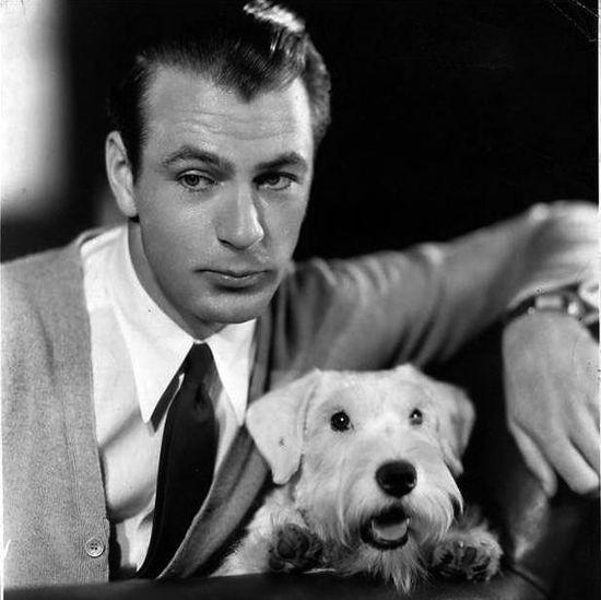 Gary Cooper #celebrities #pets