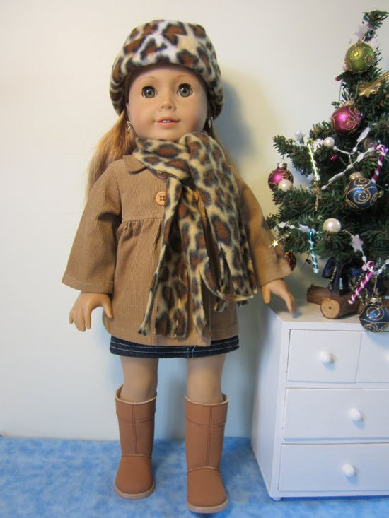 American girl doll clothes Empire Peacoat and by JazzyDollDuds, $22.00
