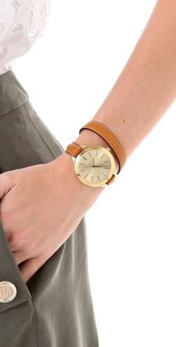 Michael Kors double wrap watch.