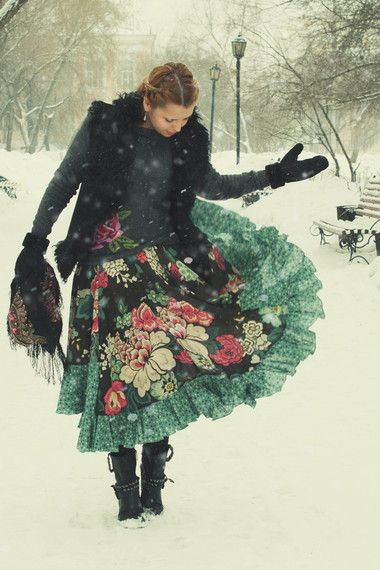 winter boho look
