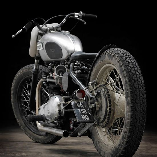 Triumph bobber motorcycle Love it!!