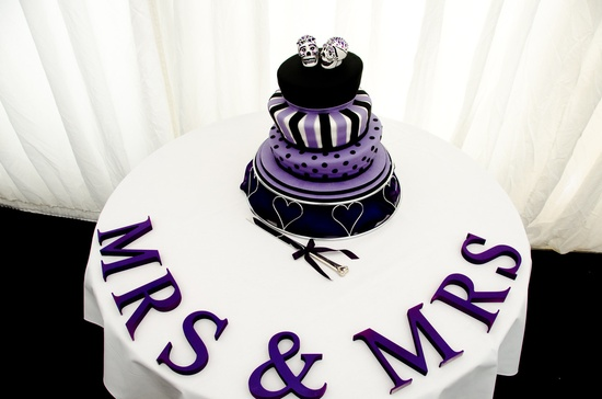 Wedding cake #Purple #wedding … Wedding #ideas for brides, grooms, parents & planners itunes.apple.com/... … plus how to organise an entire wedding, within ANY budget ? The Gold Wedding Planner iPhone #App ? For more inspiration pinterest.com/... #same #sex #wedding #gay #lesbian #weddinge