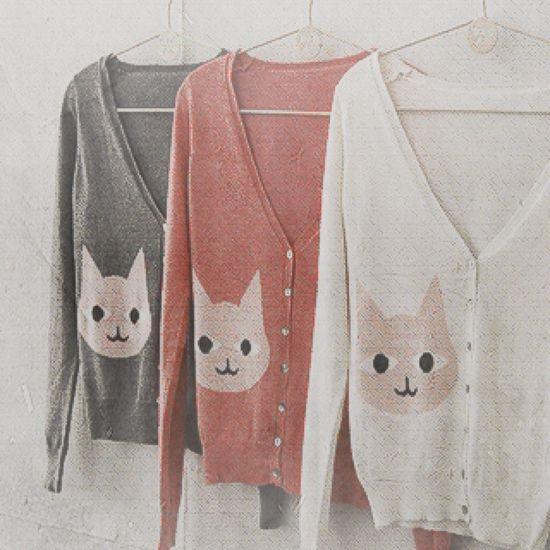 Cat cardigans!!