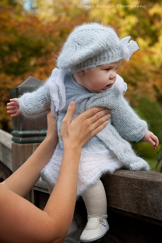 Ice Blue Baby Girl Cardigan