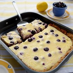 Lemon Blueberry Bars, yummy to tuck in the picnic basket!