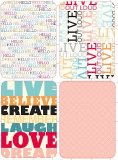 free printable Project Life cards - Colorful