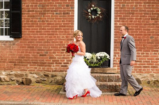 Red and grey wedding