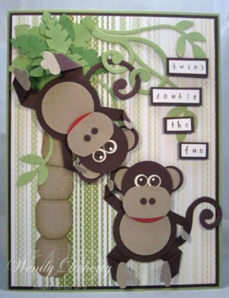 Punch Art Monkey Card