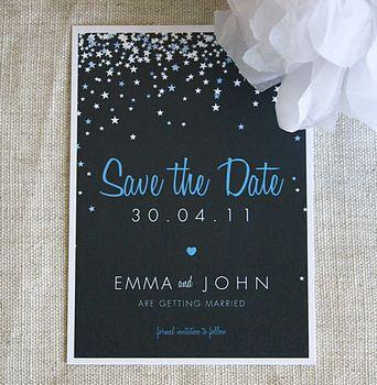 Wedding invitation idea, instead of stars do rhinestones?
