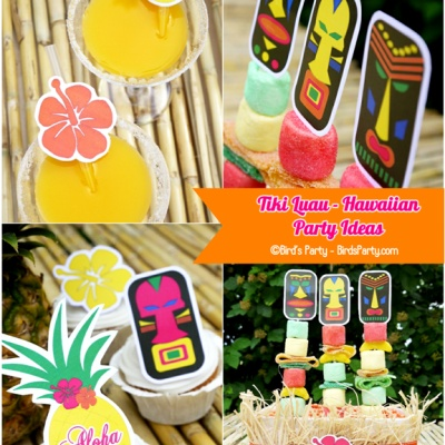 Hawaiian Tiki Luau {Teen Party Ideas} click on view this party. Everything you need for party