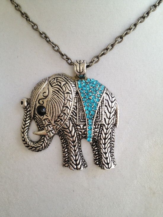 Crystal Elephant Necklace.