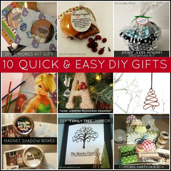 Becoming Martha: 10 Quick and Easy Last Minute DIY Gifts