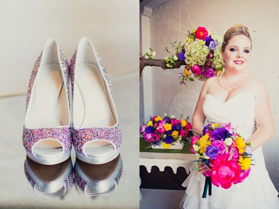 purple pink wedding shoes