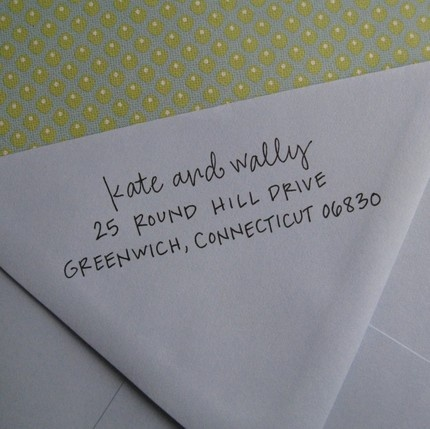 Address stamp- love this!!