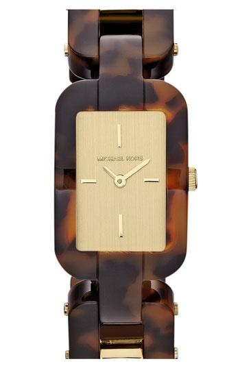 Michael Kors 'Brit' Square Bracelet Watch.