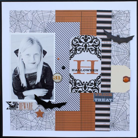 Halloween Layout - Scrapbook.com
