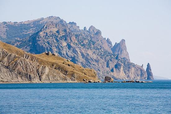 On the Black Sea of Crimea (Ukraine).