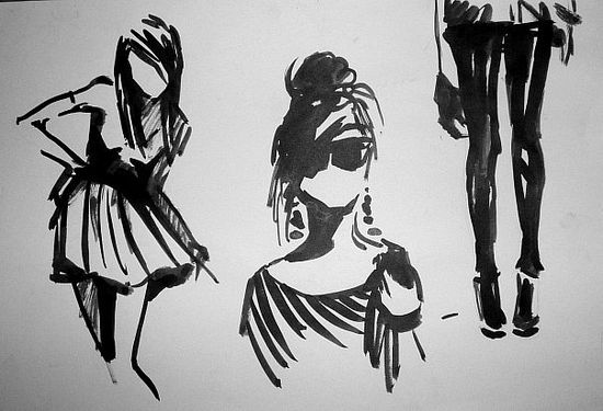 Black and white sketches