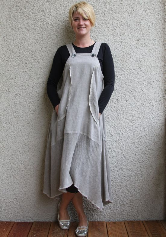 Eco friendly washed linen dress- tunic.  via Etsy.