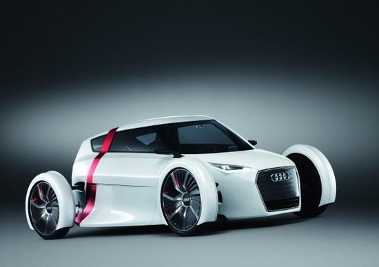 Electric White Audi urban concept front