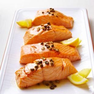 Another wonderful salmon recipe: Seared Salmon with Green Peppercorn Sauce. Has anyone made a healthy peppercorn sauce before?