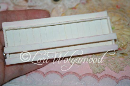 Handmade Farm Style Plate Rack for Miniature Doll House Shabby - Vintage Nest Designs, Creative Handmade and Hand Painted Designs