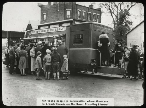 Le Traveling Library Bronx, 1938.