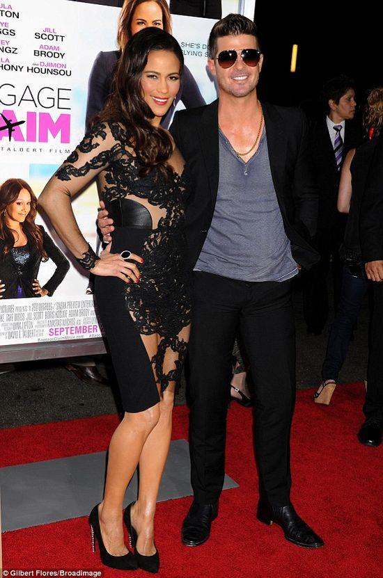 Celebrity couple Robin Thicke and Paula Patton. via dailymail.co.uk