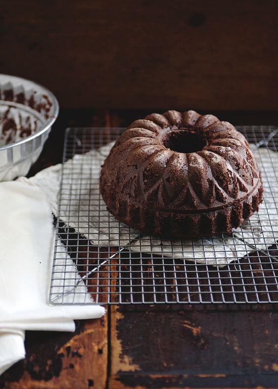 Chocolate coffee bundt cake.