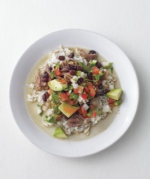 Slow-Cooker Pork and Black Beans With Fresh Salsa from realsimple.com #myplate #protein